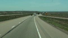 Highway travel landscape Stock Footage