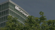 Stock Video Footage of Microsoft building 2