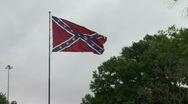Large Confederate Battle Flag Stock Footage