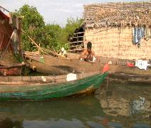 Poor Cambodian Water Village Stock Footage