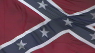 Stock Video Footage of Large Confederate Battle Flag Close Up