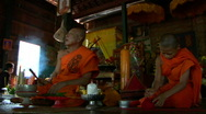 Cambodian Monk blessing ceremony Stock Footage