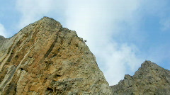 Clouds float in Crimean mountains.  time lapse. Stock Footage