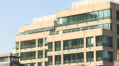 IFSC Close Up Pan of Buildings, Dublin - stock footage
