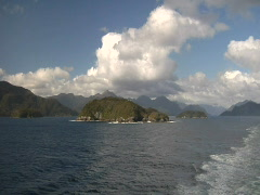 Cruising past Islands in New Zealand Stock Footage