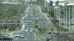 Traffic in Wailuku, Maui Hawaii - Time Lapse Stock Footage