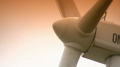 Massive Wind Turbine Close Up  Stock Footage
