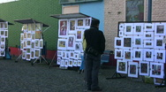 Stock Video Footage of Street exhibition