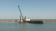 Stock Video Footage of New harbor Construction  time lapse
