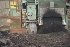 Coal-cutter. Stock Footage