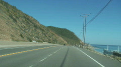Driving on PCH - Front Camera Mount - Speed Up Stock Footage