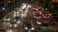 Traffic in LA - Hollywood - Timelapse - stock footage