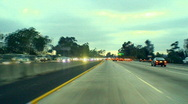 Stock Video Footage of Blurred Los Angeles City Traffic