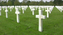Omaha Beach, Normandy American Cemetery Stock Footage