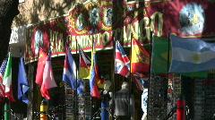 Souvenir shop, Buenos Aires Stock Footage