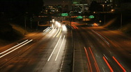 LA City Traffic at Night - Timelapse Stock Footage