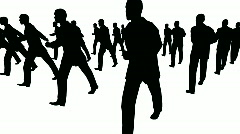 Crowd marches - stock footage