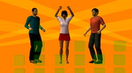 Three dancing persons Stock Footage