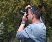 People in park Stock Footage