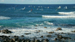 Maui Wind Surfers & Cool Waves - Time Lapse Stock Footage