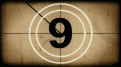 Countdown leader old style Stock Footage