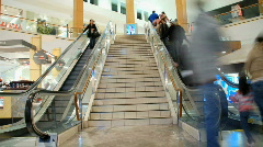 Escalator /  stairs  at the mall - Time Lapse - stock footage