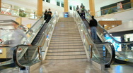 Stock Video Footage of Escalator /  stairs  at the mall - Time Lapse