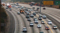 Los Angeles 405 Freeway Time Lapse #1 Stock Footage
