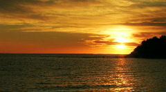 Sunrise over the ocean HD Stock Footage