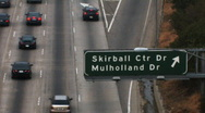 Stock Video Footage of Los Angeles 405 Freeway - Skirball/Mulholland Time Lapse