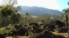Volcano Maderas with lava rock in Nicaragua Stock Footage