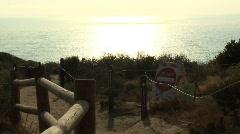 Do Not Enter Beach Stock Footage