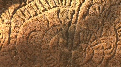 Petroglyphs at base of volcano Maderas in Nicaragua Stock Footage