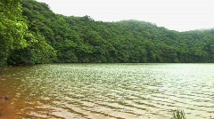 Lake on top of volcano Maderas in Nicaragua Stock Footage