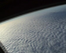 Skydiving above clouds Stock Footage
