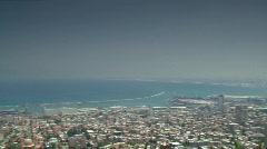 Haifa Bay panorama Stock Footage