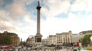 Stock Video Footage of trafalgar sq00