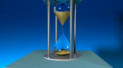 Hour Glass showing passing time Stock Footage