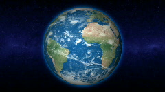 Rotating Earth with evolving clouds (Loop) - stock footage