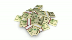 A pile of 100-dollar bills. 1080p. Stock Footage