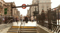 picadilly circus london city urban transport traffic - stock footage