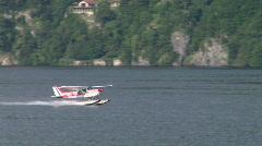 Seaplane takeoff 01 Stock Footage
