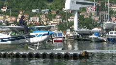 Seaplane base 08 Stock Footage