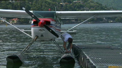 Seaplane base 09 Stock Footage