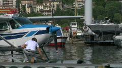 Seaplane base 07 Stock Footage