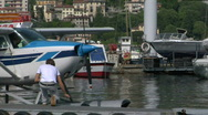 Stock Video Footage of seaplane base 07