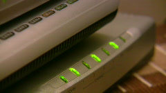 Home Network Station 3 Stock Footage