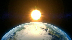 Rotating Earth with evolving clouds Lower Third (Loop) - stock footage