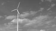 Stock Video Footage of black and white single windmill