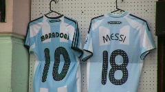Argentine soccer stars Stock Footage
